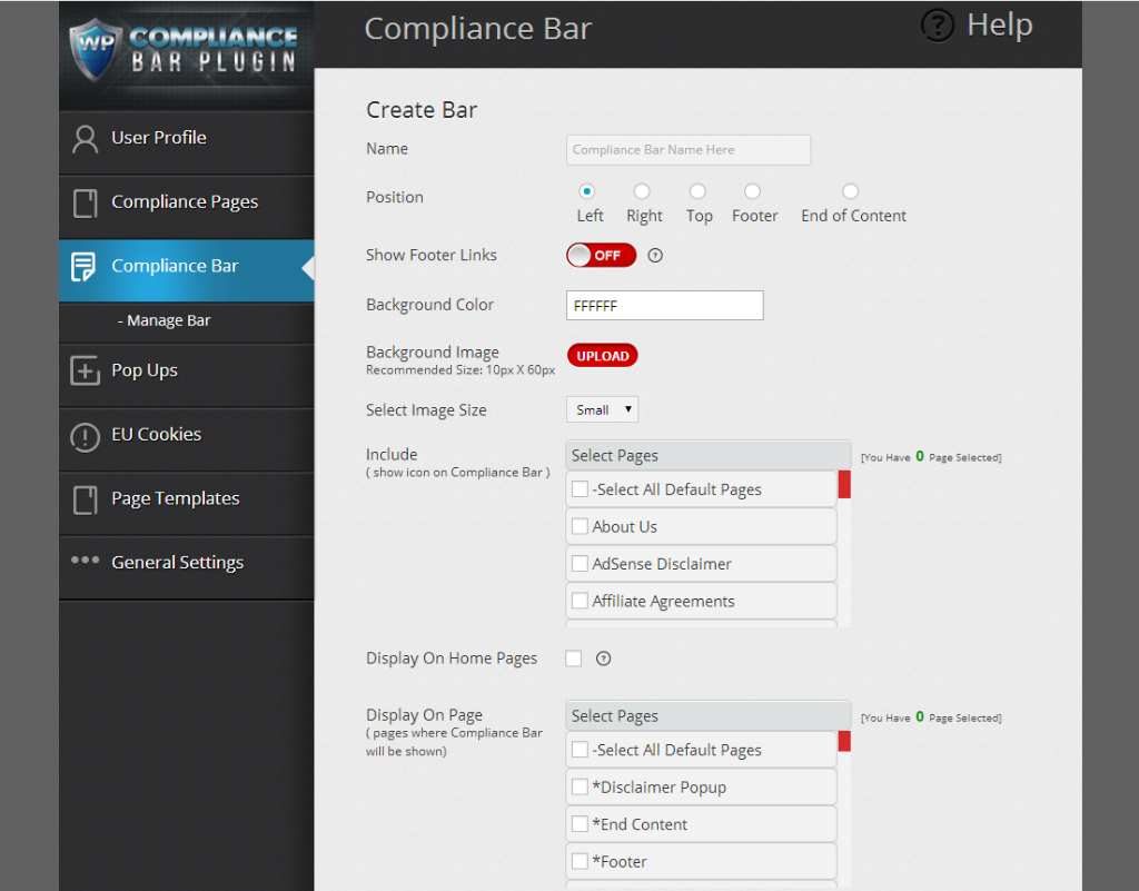 Create Compliance Bar